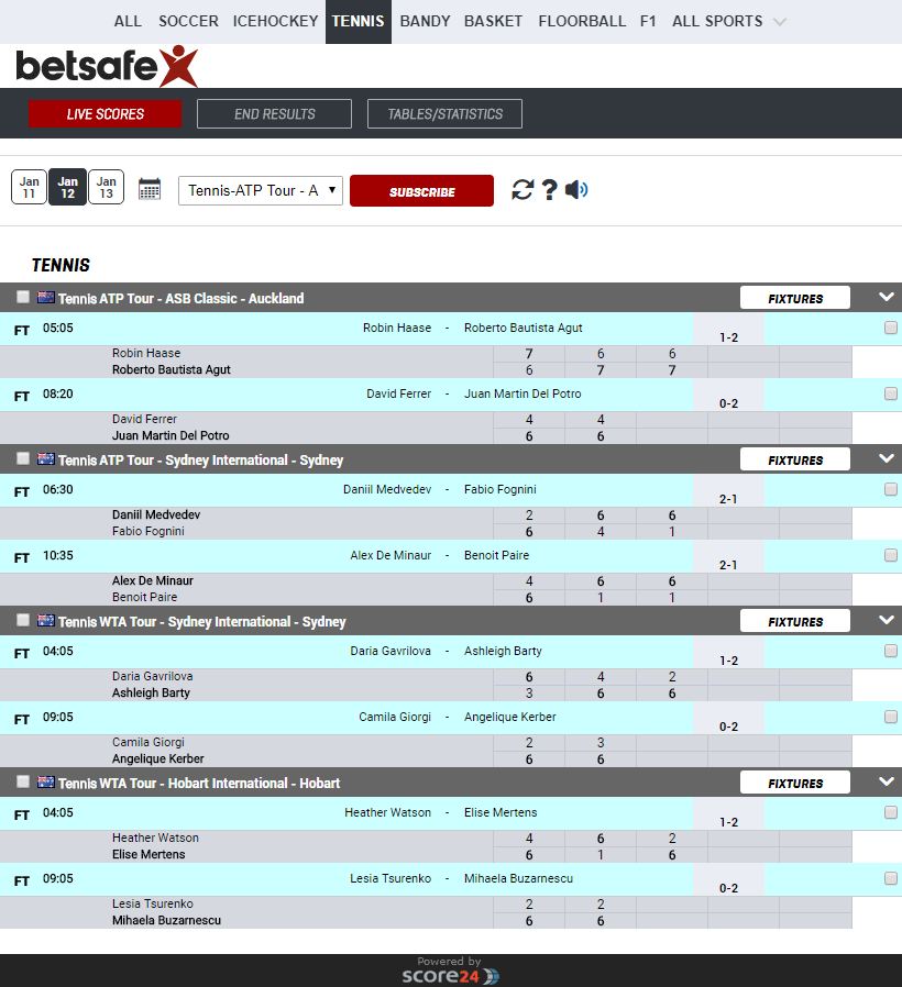 Livescore ,Sports data API , Results , Fxitures , Sports