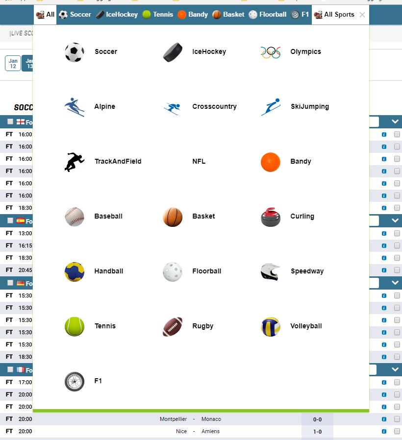Livescore ,Sports data API , Results , Fxitures , Sports
