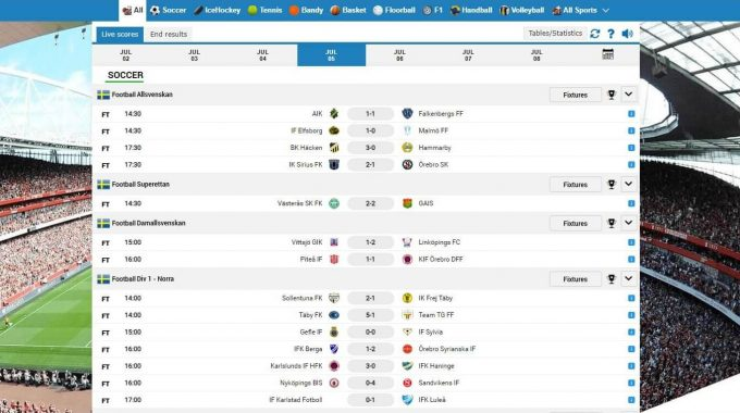 Launched Livescore V2 With The Improved Design And Better Mobile View